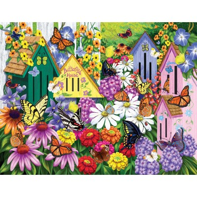 SunsOut - 1000 pieces - Nancy Wernerbach - Butterfly Neighbors