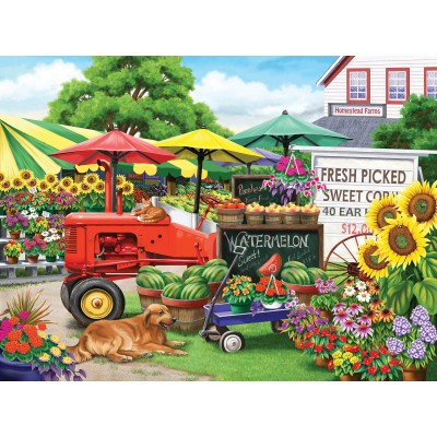 SunsOut - 300 pieces - XXL Pieces - Nancy Wernersbach - Farm Stand Bounty