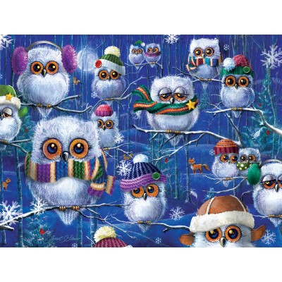 SunsOut - 500 pieces - Janet Stever - Night Owls with Hats
