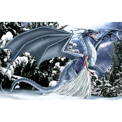 SunsOut - 1000 pieces - Nene Thomas - Ice Dragon