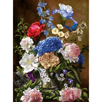SunsOut - 1000 pieces - Bouquet in Blue