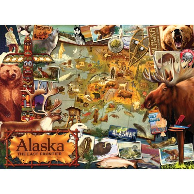 SunsOut - 1000 pieces - Ward Thacker Studio - Alaska, The Final Frontier