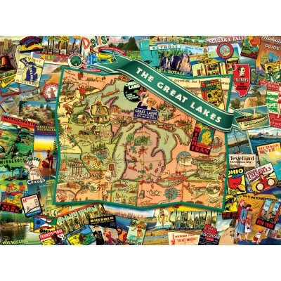 SunsOut - 1000 pieces - Ward Thacker Studio - Great Lakes