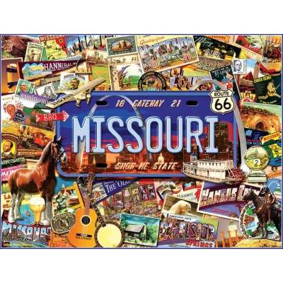 SunsOut - 1000 pieces - Kate Ward Thacker - Missouri : The 'Show Me' State