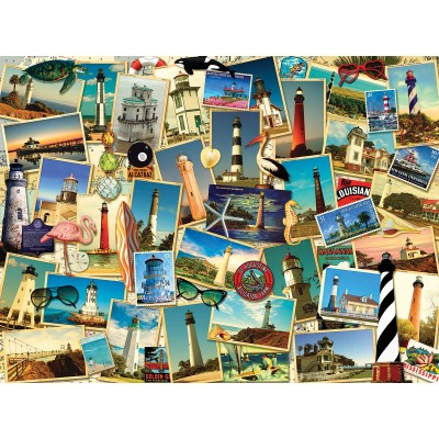 Bluebird-Puzzle - 1000 Teile - Kate Ward Thacker - Southern Lighthouses