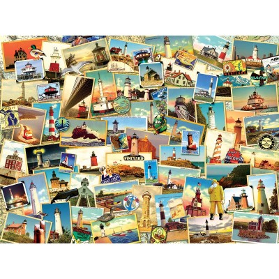 Bluebird-Puzzle - 1000 Teile - Kate Ward Thacker - Northern Lighthouses