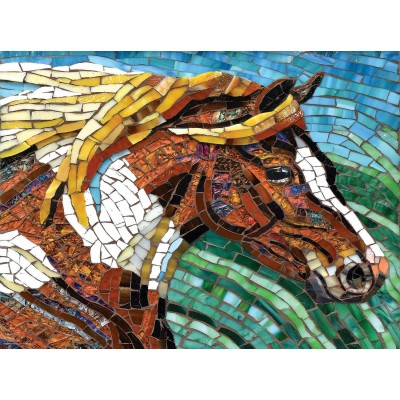 SunsOut - 1000 pieces - Cynthie Fisher - Stained Glass Horse