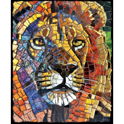 Bluebird-Puzzle - 1000 Teile - Cynthie Fisher - Stained Glass Lion