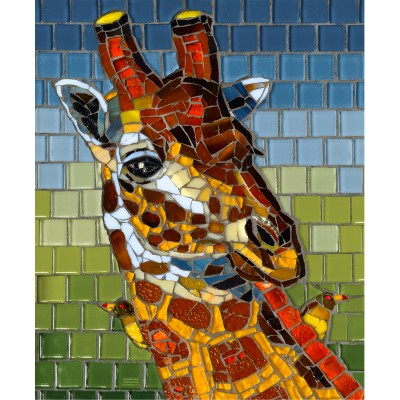 Bluebird-Puzzle - 1000 Teile - Stained Glass Giraffe