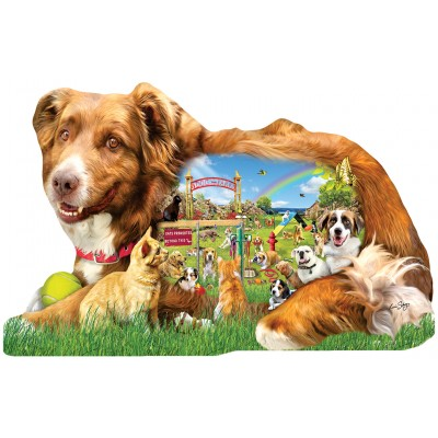 SunsOut - 1000 pieces - XXL Pieces - Lori Schory - Dog Park