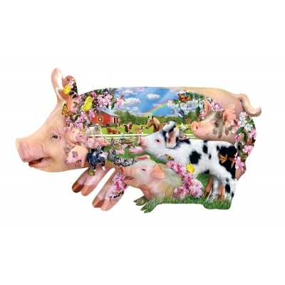 SunsOut - 800 pieces - XXL Pieces - Lori Schory - Pig Farm