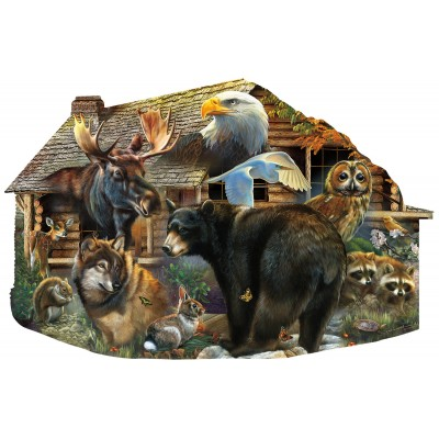 SunsOut - 1000 pieces - Wildlife Cabin