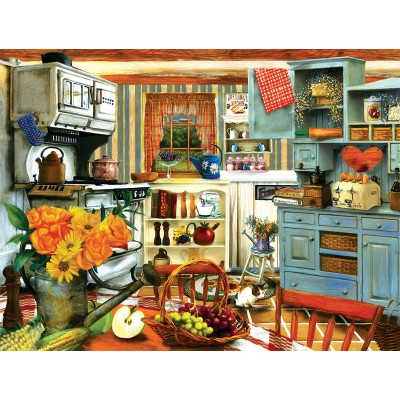 Puzzle Xxl Pieces Grandma S Country Kitchen Sunsout 28830 300 Pieces Jigsaw Puzzles Retro And Nostalgia Jigsaw Puzzle
