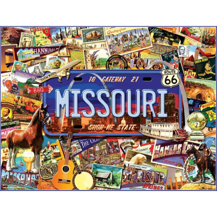 Puzzle Sunsout-70038 Kate Ward Thacker - Missouri : The 'Show Me' State