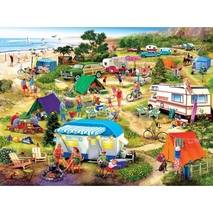 Puzzle Sunsout-31549 Seaside Campground