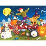 Puzzle  Sunsout-11260 XXL Pieces - Halloween Puppies
