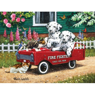 Puzzle  Sunsout-13321 Kevin Walsh - Fireman Friends