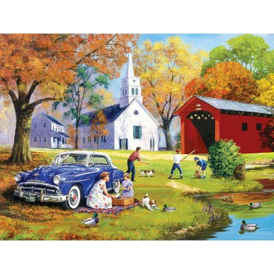 Puzzle  Sunsout-13735 XXL Pieces - Family Time by the River