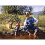 Puzzle  Sunsout-16836 XXL Pieces - Fishing With Grandpa