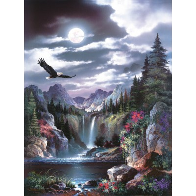 Puzzle  Sunsout-18005 XXL Pieces - James Lee - Moonlit Eagle