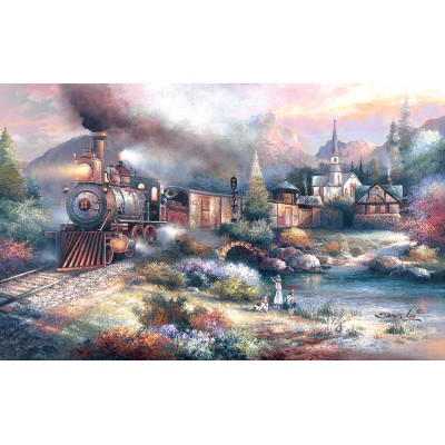 Puzzle  Sunsout-18008 XXL Pieces - James Lee -  Maryland Mountain Express