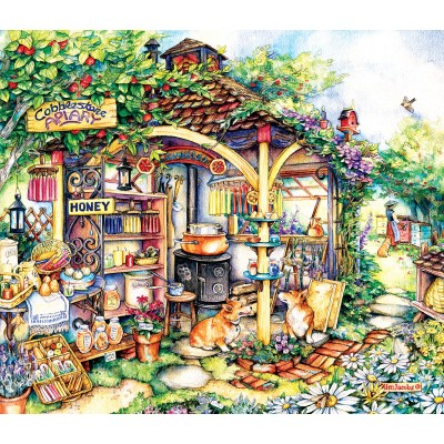 Puzzle  Sunsout-24616 Kim Jacobs - The Apiary