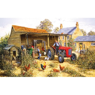 Puzzle  Sunsout-26614 XXL Pieces - Helping Dad