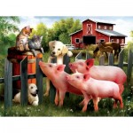 Puzzle  Sunsout-28808 XXL Pieces - Making Some New Friends