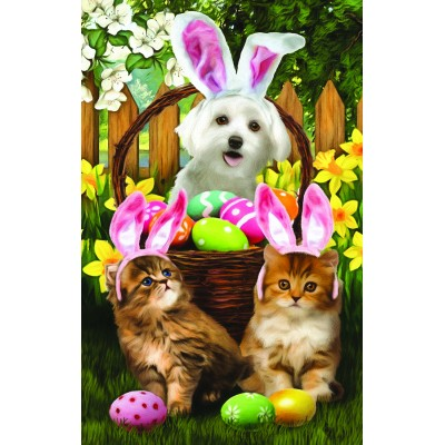 Puzzle  Sunsout-28849 Pièces XXL - Tom Wood -  Easter Bunny in Training