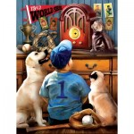 Puzzle  Sunsout-28853 XXL Pieces - Tom Wood - Listening to the Game