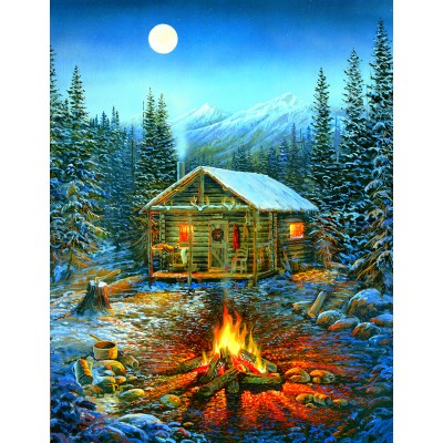 Puzzle  Sunsout-29032 XXL Pieces - Sam Timm - A Cozy Holiday