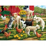 Puzzle  Sunsout-30439 XXL Pieces - Lambs on the Loose