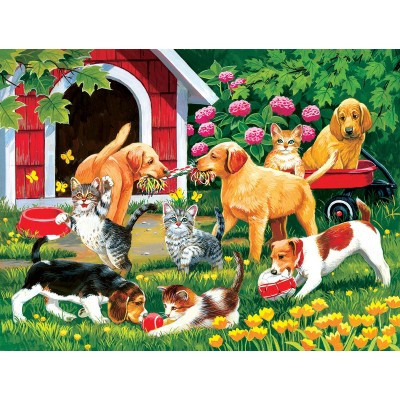 Puzzle  Sunsout-30444 XXL Pieces - Who's Winning?