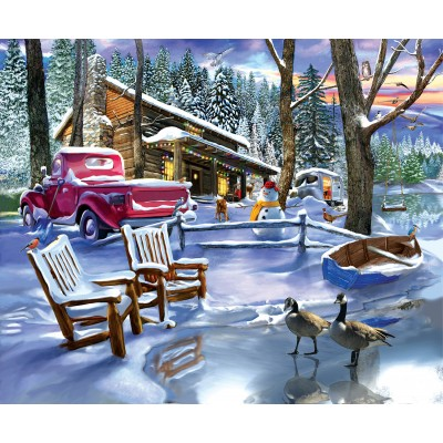 Puzzle  Sunsout-31530 Snowed In