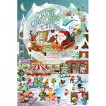 Puzzle  Sunsout-32210 Pièces XXL - Legacy Tree - A Christmas Village for All Ages