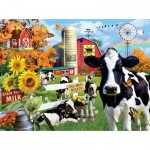 Puzzle  Sunsout-35078 XXL Pieces - Lori Schory - Dairy Farm