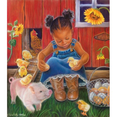Puzzle  Sunsout-35808 XXL Pieces - Barn Babies