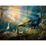 Puzzle  Sunsout-36205 XXL Pieces - Turkey in the Sun Rays