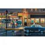 Puzzle  Sunsout-37756 XXL Pieces - Small Town Saturday Night