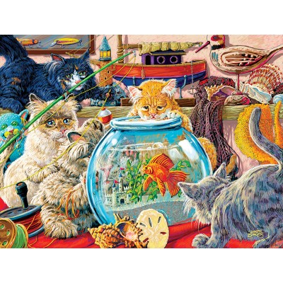 Puzzle  Sunsout-38929 XXL Pieces - Something's Fishy