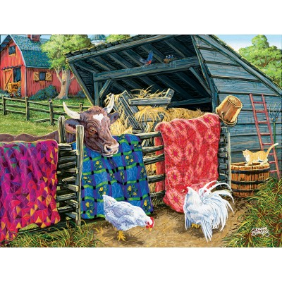 Puzzle  Sunsout-38946 XXL Pieces - Joseph Burgess - Quilt Cow