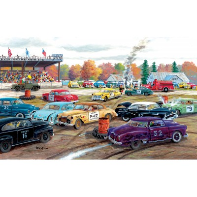 Puzzle  Sunsout-39361 XXL Pieces - Ken Zylla - Demolition Derby