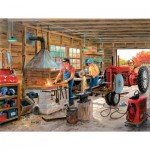 Puzzle  Sunsout-39376 Ken Zylla - Metal Shop