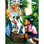 Puzzle  Sunsout-44320 XXL Pieces - Washing the Dog