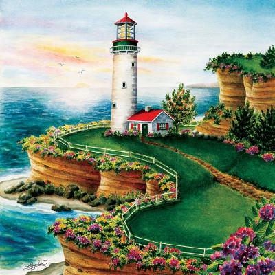 Puzzle  Sunsout-45622 XXL Pieces - Lighthouse Sunset