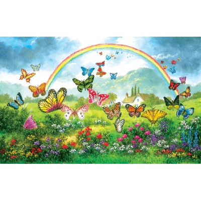 Puzzle  Sunsout-48317 Dennis Lewan - Butterfly Holiday
