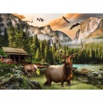 Puzzle  Sunsout-49004 Nigel Hemming - Elk Country
