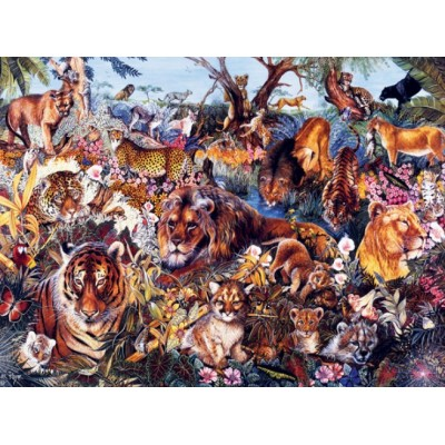 Puzzle  Sunsout-50078 XXL Pieces - Animal Fantasia