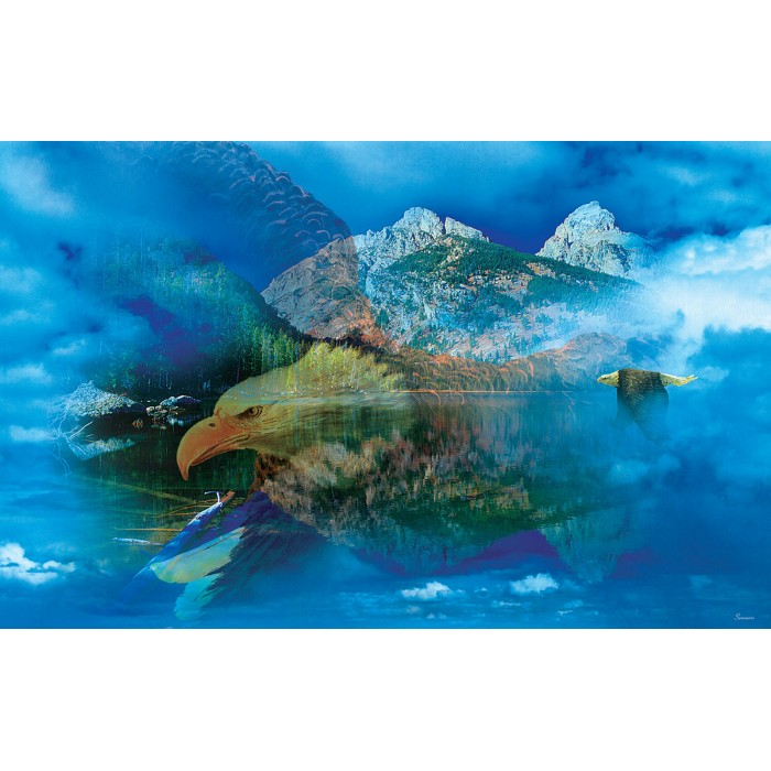 Puzzle Sunsout-50777 Gordon Semmens - Eagle Dreamscape