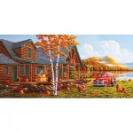 Puzzle  Sunsout-51302 XXL Pieces - Geno Peoples - The Pleasures of Fall